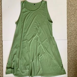 Dresses & Skirts - olive green tank dress with pockets